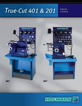 401 & 201 Brake Lathes Brochure