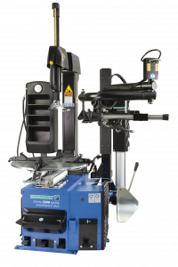 The Hofmann monty 3300 Racing SmartSpeed Plus tyre changer is equipped for dealing with run-flat tyres.