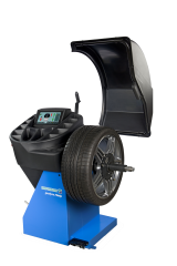 The new Hofmann geodyna 7340P is a professional touchscreen wheel balancer with a torque-controlled power clamp device for cars, light trucks and motorcycles*.