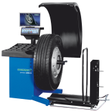 The HOFMANN geodyna 4800 2L is a video wheel balancer with a 19in TFT monitor for commercial trucks.