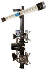 The geoliner 610 has a tilted camera boom for flexible vehicle positioning, eliminating the need for a fixed position to carry out alignment checks, and is perfect for those with limited workshop space.