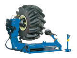 The monty 4250 heavy-duty tyre changer designed for use with truck, tractor, bus and earthmover wheels of up to 1.5T and with 14in-56in rim diameters**.