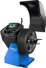 The Hofmann geodyna 7340L is a professional touchscreen wheel balancer for cars, light trucks and motorcycles with 2D SAPE – Semi-Automatic Parameter Entry – and Smart Sonar input for automatic measurement of wheel offset, wheel diameter and wheel width, and a pinpoint laser indicator for weight placement.