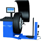 The Hofmann geodyna 980L is a truck wheel balancer with eye-level VDU display and optional wheel lift.