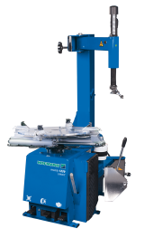 The monty 1270 Smart is a swing arm tyre changer for general repair shops, with capability for cars, light trucks and motorcycles (with extra adaptors).